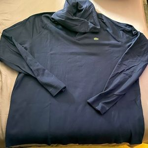 Mens Lacoste Navy Pullover Cotton Knit